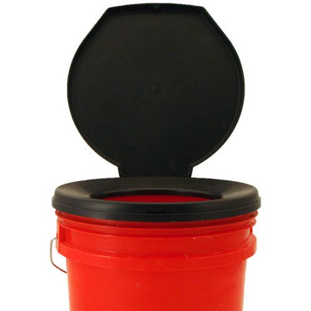 5 Gallon Bucket Toilet Seat Walmart.Honey Bucket Emergency Toilet Seat Cover Black
