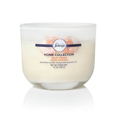 Febreze Home Collection Scented Jar Candle, Peach Cilantro, 12 oz, Single