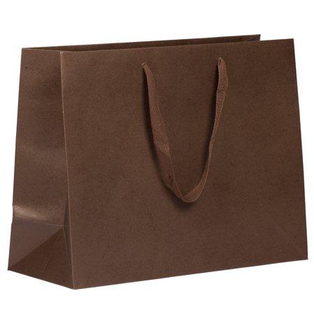 Heavy Duty Anti Jam (JAM Paper Heavy Duty Matte Horizontal Gift Bag - 13x 10 x 5 - Chocolate Brown Kraft Recycled - Sold Individually)