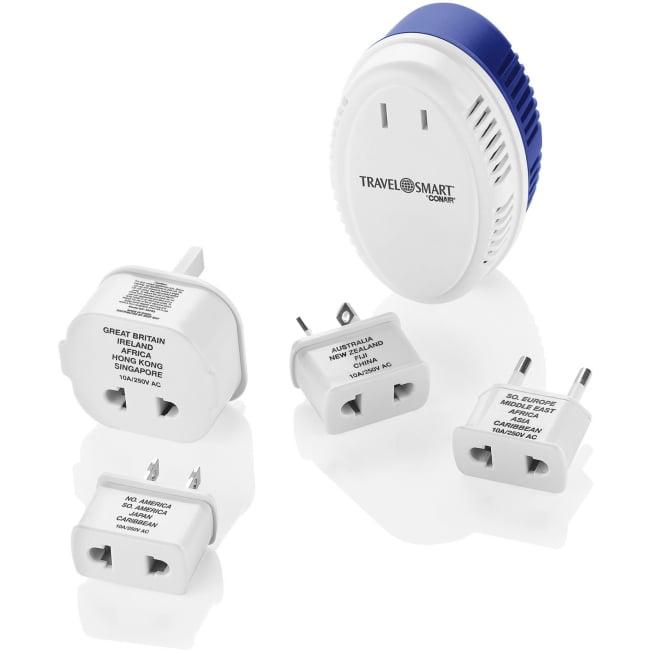 Travel Smart by Conair 1875 Watt Converter w/ 5 Insulated Adapter Plugs