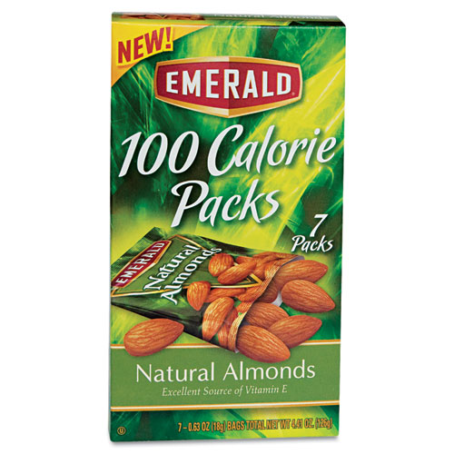 Emerald All Natural Almonds, 100-Calorie Packs, 7 count