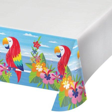 Creative Converting Lush Luau Plastic Tablecover, 54