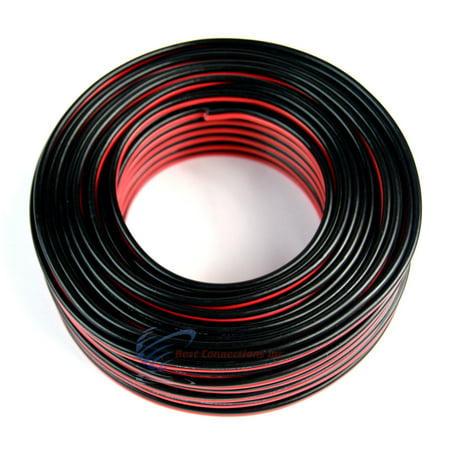 Audiopipe 100' ft 14 Gauge Red Black Stranded 2 Conductor Speaker Wire for Car Home Audio