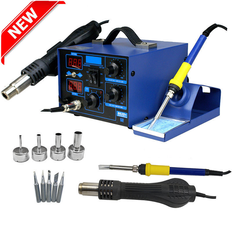 SMD 2in1 862D+ Soldering Station Soldering Iron Kit Welder Kit Hot Air