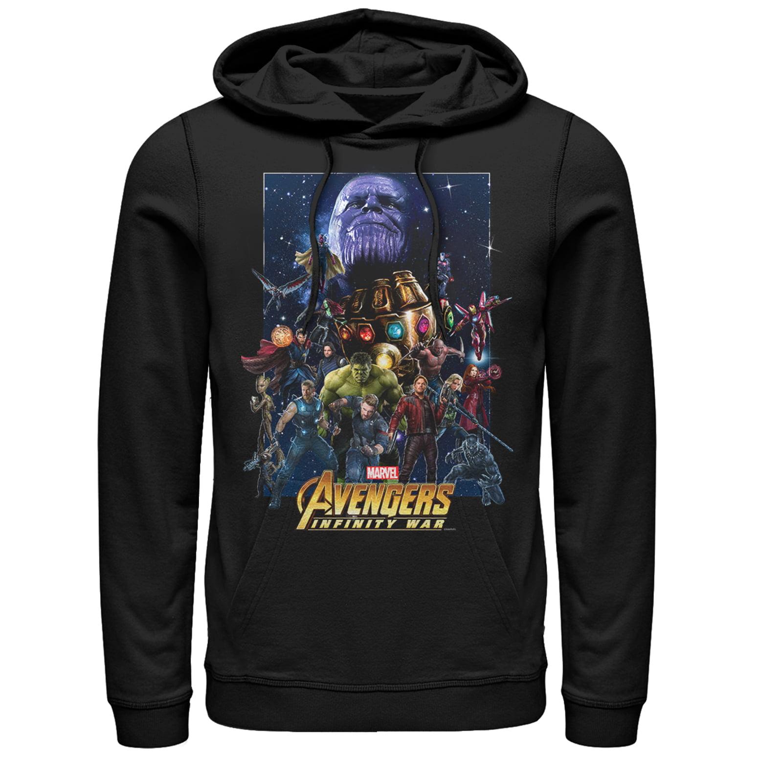 Marvel Men's Avengers: Infinity War Character Collage Hoodie