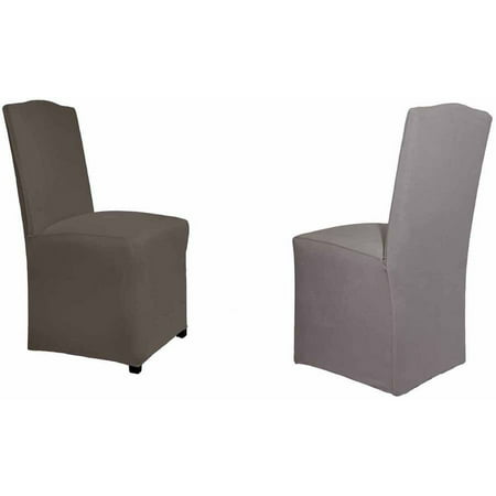 Serta Reversible Microsuede Stretch Fit Slipcover Dining Parsons Chair 1 Piece Long