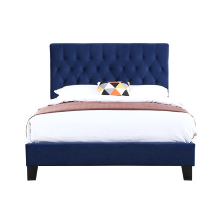 Emerald Upholstered Bed Kit Twin Navy Hbfbr