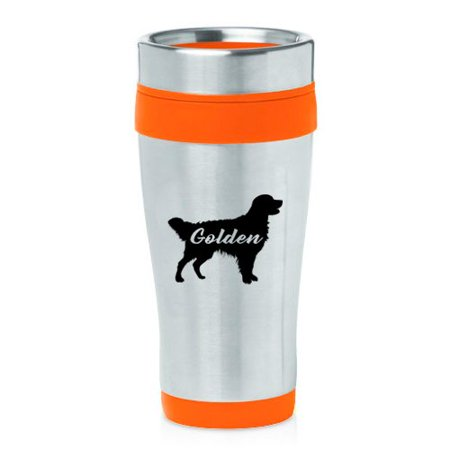 Retriever Travel Mug (16 oz Insulated Stainless Steel Travel Mug Golden Retriever 'Golden')