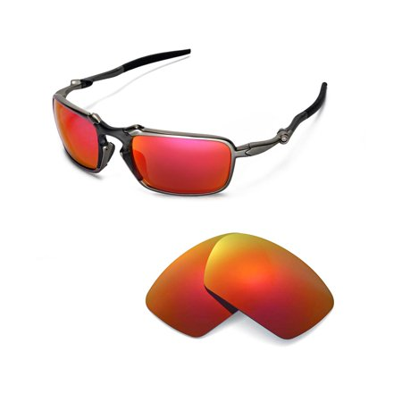2176fdf052 Walleva - Walleva Fire Red Polarized Replacement Lenses for Oakley Badman  Sunglasses - Walmart.com