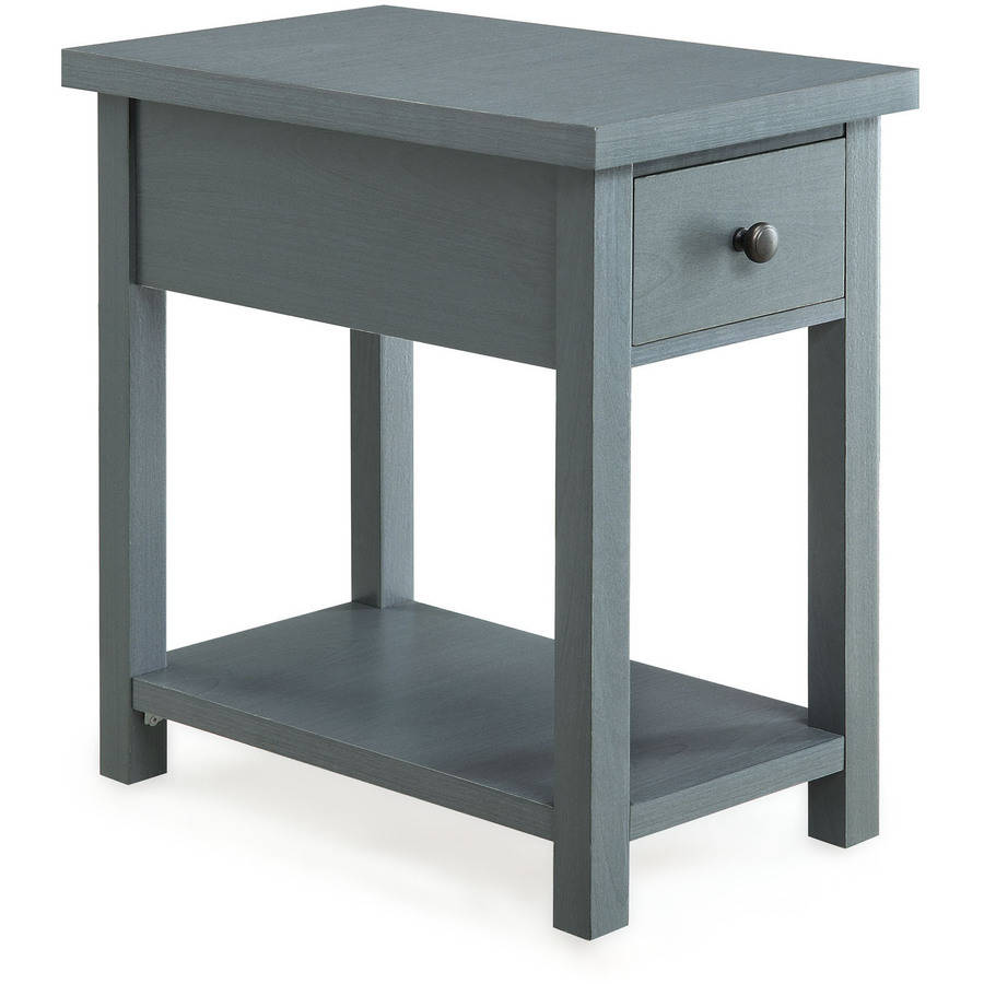 Better Homes and Gardens Furniture End Table with Drawer, Blue
