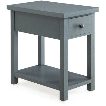 better homes and gardens furniture end table with drawer blue. Black Bedroom Furniture Sets. Home Design Ideas