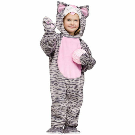 Little Stripe Kitten Toddler Halloween Costume, Size - Little Mermaid Halloween Costumes For Toddlers