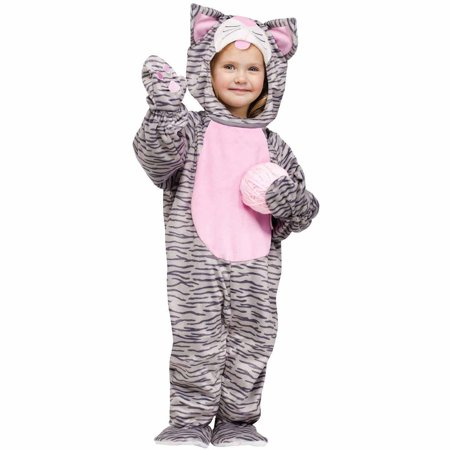 Little Stripe Kitten Toddler Halloween Costume, Size 3T-4T