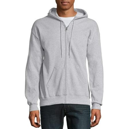 Hanes Men's Ecosmart Fleece Zip Pullover Hoodie with Front Pocket (Zip Up Fleece Hoodie Men)