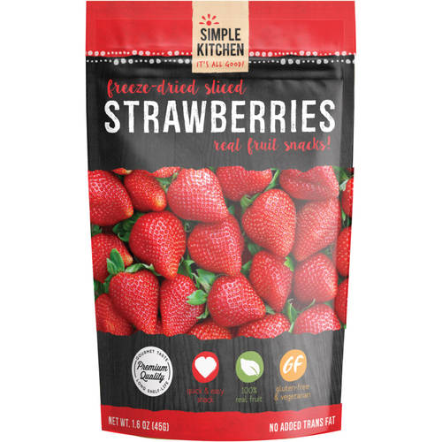Wise Company Freeze-Dried Sliced Fruit, Strawberry, 0.7 Oz by SIMPLE KITCHEN