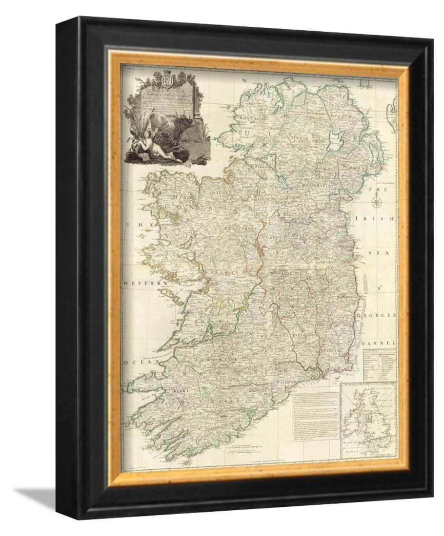 Composite Ireland C 1790 Framed Art Print Wall Art By John Rocque 10x12 Walmart Com Walmart Com
