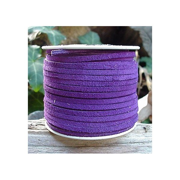 Lace Lacing Leather Suede Purple 25 Yard Spool Made in USA