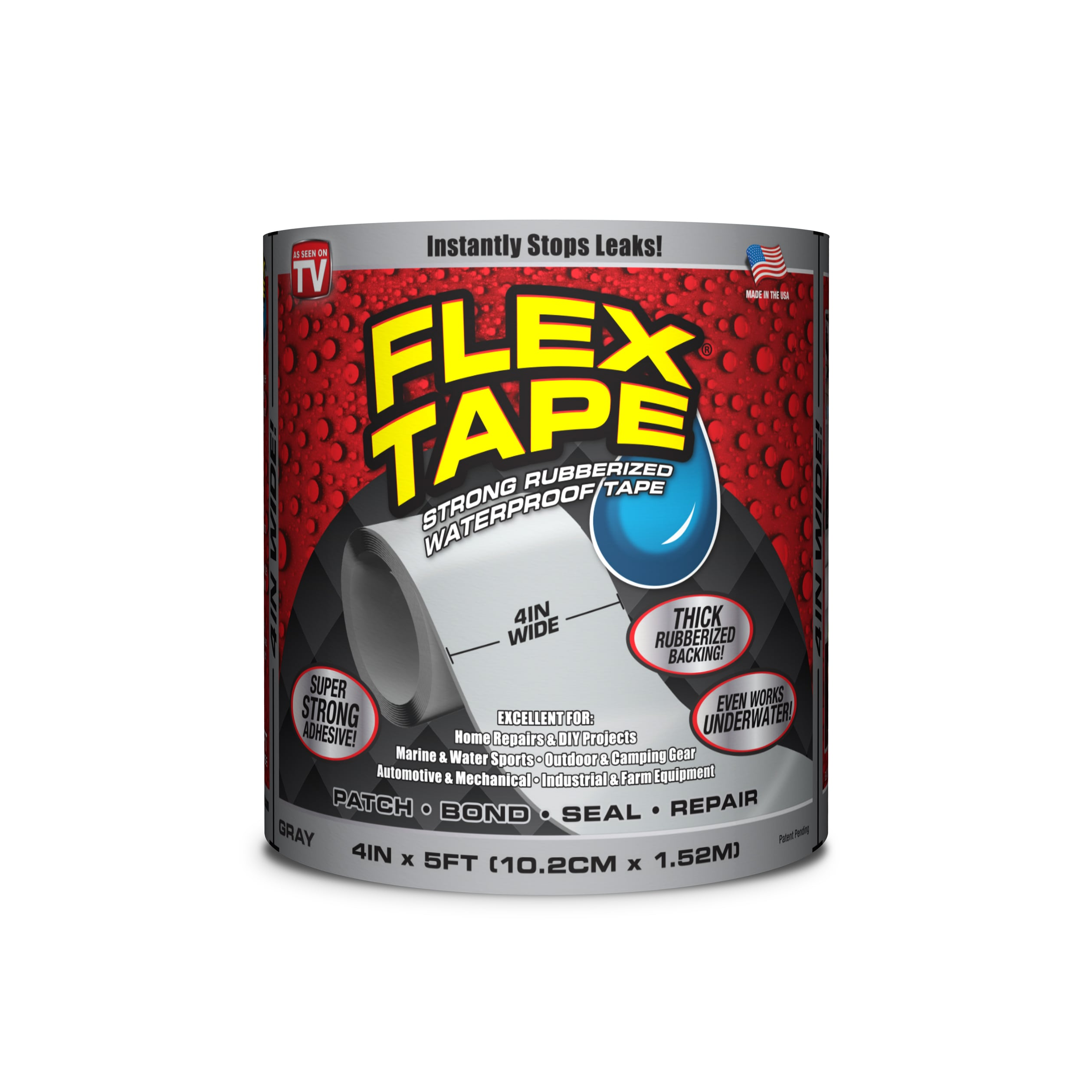 Flex Tape Rubberized Waterproof Tape  4 Inches X 5 Feet