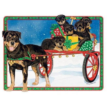 Pipsqueak Productions C800 Holiday Boxed Cards- Rottweiler