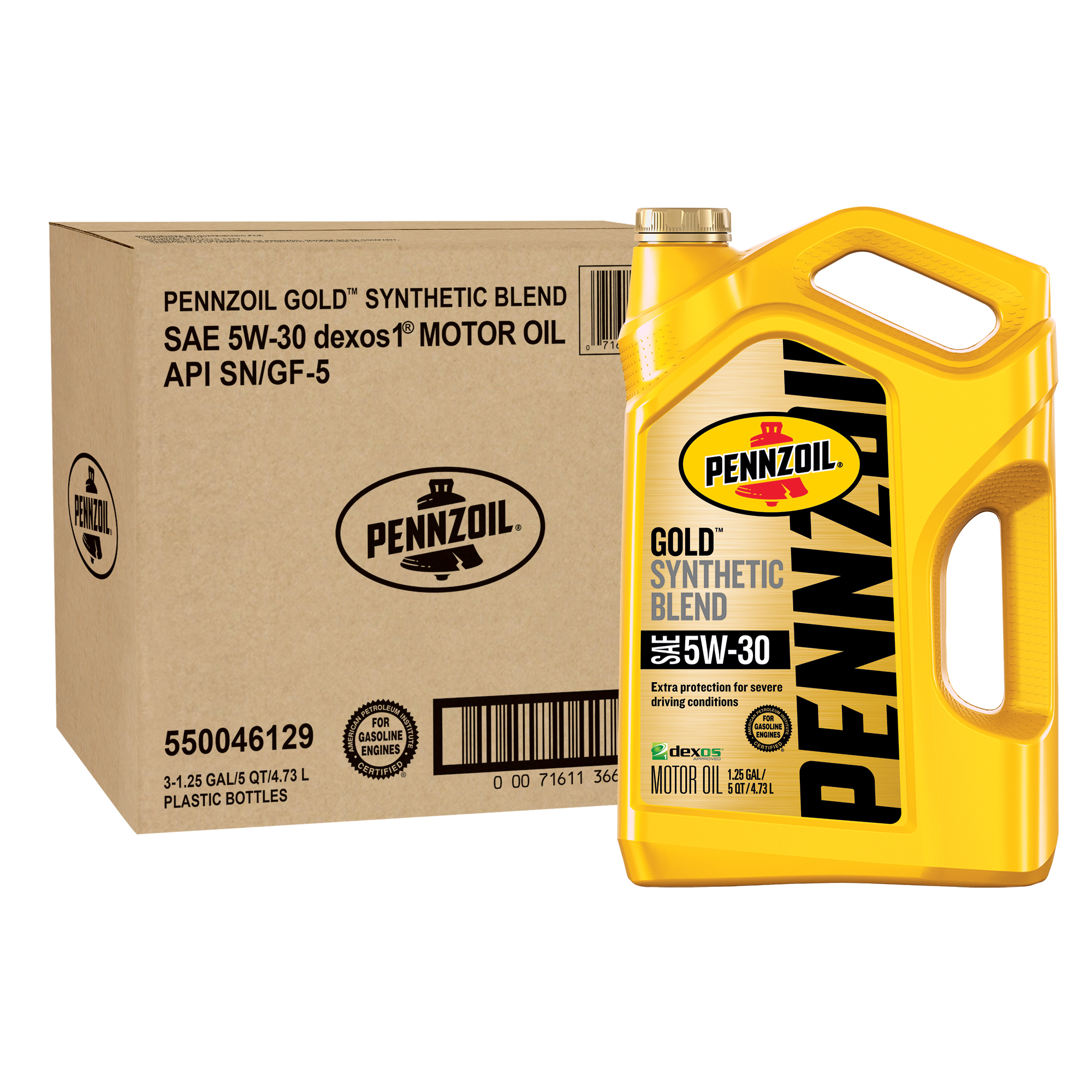 Pennzoil 5W-30 Synthetic Blend Motor Oil, 5-qt.