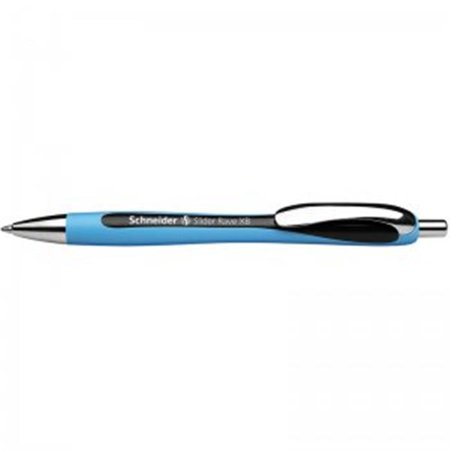 Stride STW132501BN Schneider Black Slider Rave XB Retractable Ballpoint Pen - 5