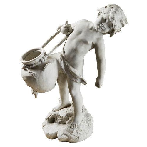 Design Toscano Young Child Urn Carrier Garden Statue