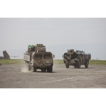 German Army Man 7T Mil Gl 6X6 Pritsche Vehicles Canvas Art   Terry Moorestocktrek Images  35 X 24