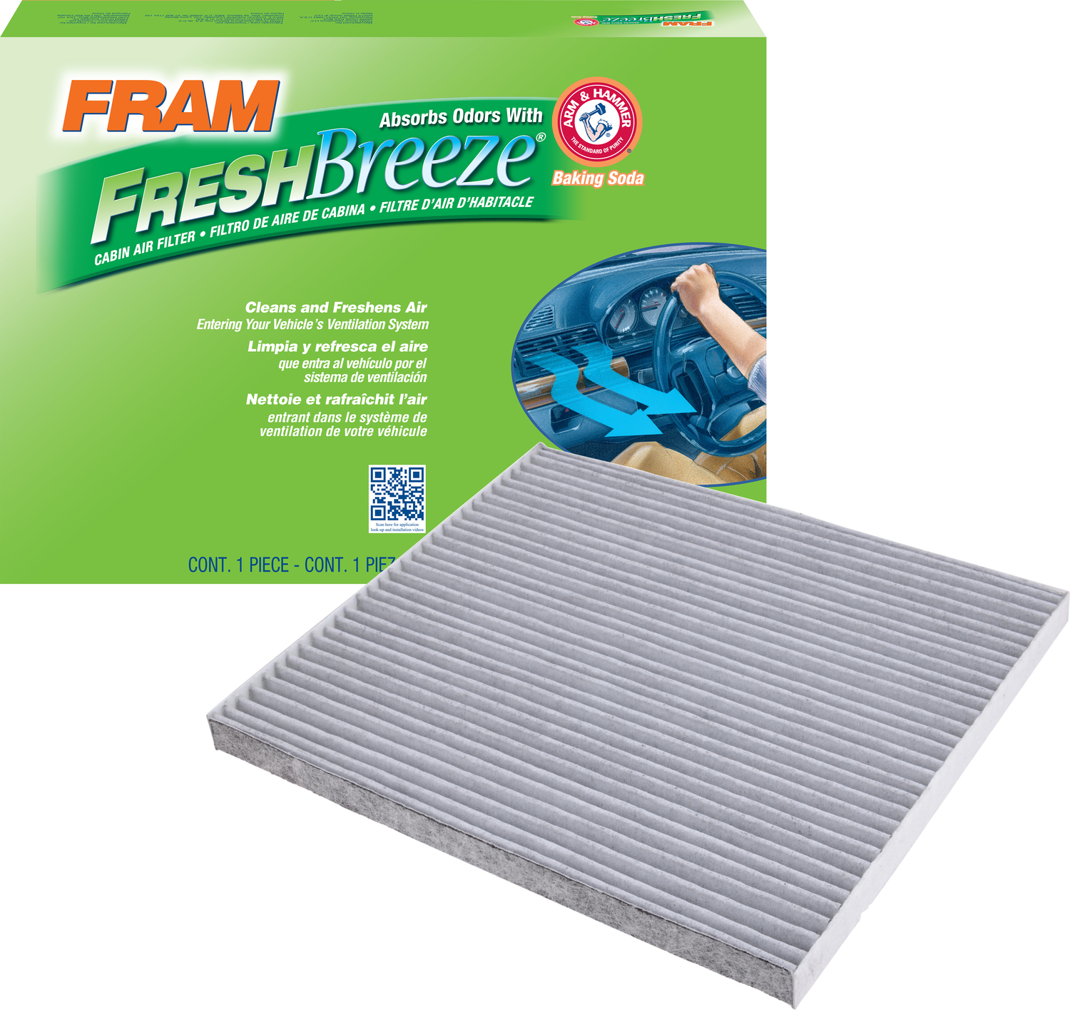 FRAM Fresh Breeze Cabin Air Filter, CF11776