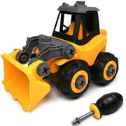WistoyzTake Apart Toys Car Truck for Toddlers ,Gift for 3 4 5 Year Old Boys Girls, DIY Toys , Bulldozer toys for 3-4-5 Year Old Kids