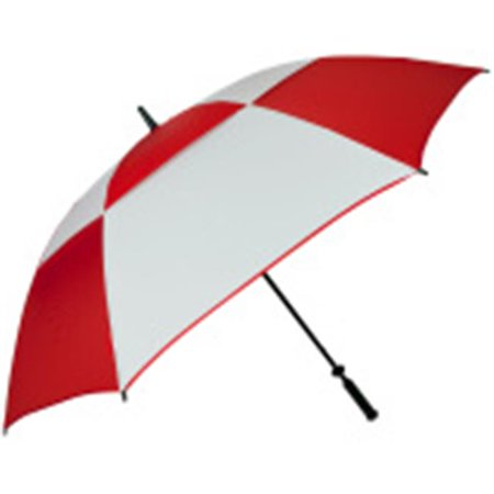 FJWestcott 8707 68 in. Double Canopy Hurricane Golf Umbrella - Red and White