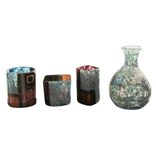 Ambiente 4 Piece Handmade Vase Set