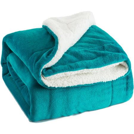 Bedsure Sherpa Throw Warm Blanket Peacock Blue Twin Size 40x40 New Bedsure Sherpa Blanket Throw Blankets