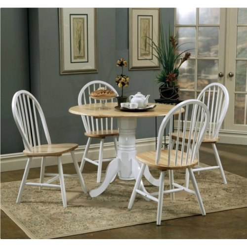 August Grove Altair 5 Piece Drop Leaf Breakfast Nook Dining Set