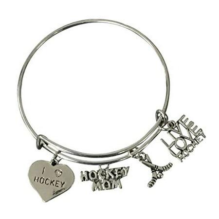 - Hockey Mom Bracelet- Hockey Jewelry For Moms -Hockey Mom Bracelet- Perfect Gift for Hockey Moms
