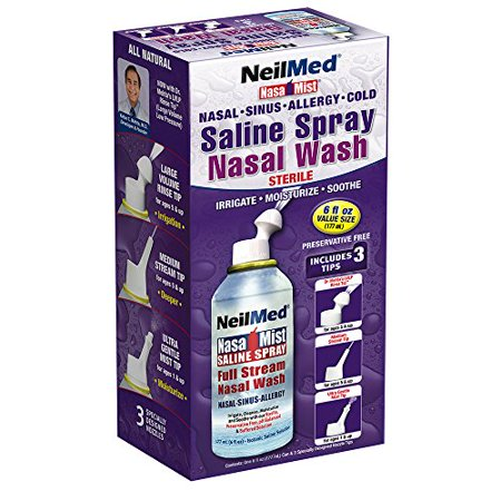 2 Pack - NeilMed Nasa Mist All in One Saline Spray 6 fl oz