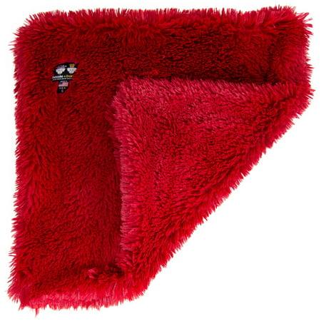 Bessie and Barnie  Ultra Plush Lipstick Luxury Shag Dog/ Pet Blanket - Red