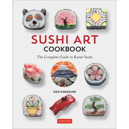 Sushi Art Cookbook : The Complete Guide to Kazari Maki Sushi Entertain your friends and family with sushi that looks as fantastic as it tastes! As the world's appetite for Japanese sushi continues to skyrocket, the Sushi Art Cookbook introduces readers to the art of creating sushi that looks as fantastic as it tastes! Author Ken Kawasumi--principal lecturer at the Japanese Sushi Institute--is the pioneering chef behind Kazari Maki Sushi. The designs revealed by slicing the sushi logs into delicious morsels can be understated or refined, expressive or playful--whatever suits the occasion! A sushi cookbook like no other, this guide to decorative Kazari Maki Sushi includes:   Instructions on how to prepare sushi rice, ingredients, and garnishes Essential sushi rolling and pressing techniques 85 designs from simple to sophisticated Detailed color photographs, documenting step-by-step assemblyAnyone can create these simple-to-sophisticated sushi recipes and designs:  Chrysanthemum Bunny Clown Smiley-Face Panda Cherry Blossom Guitar Penguin Bonsai Tree Samurai and much more!
