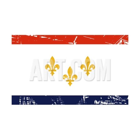 New Orleans City Flag, State Of Louisiana, U.S.A Print Wall Art By - Party City New Orleans