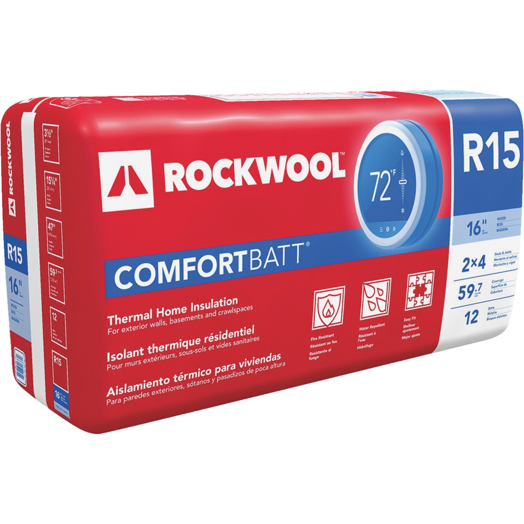 Rockwool Comfortbatt Stone Wool Insulation Walmart Com