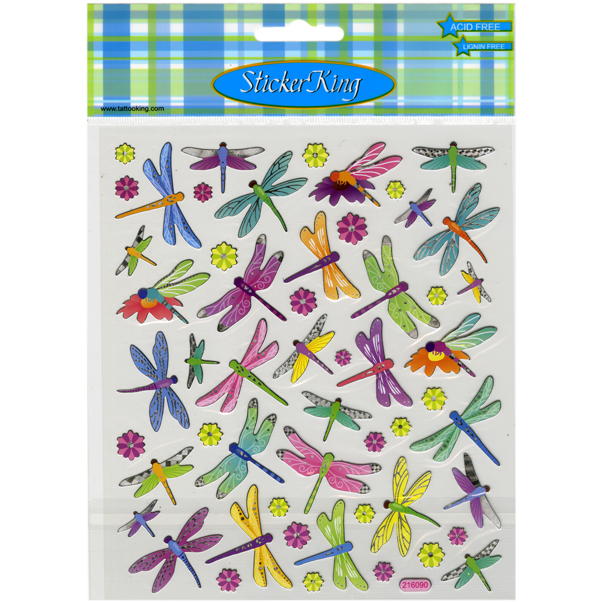 Multicolored Stickers-Dragonflies
