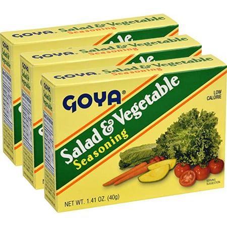 Goya Seasoning (Goya Salad & Vegetable Seasoning 1.41 Oz (Pack of 3))