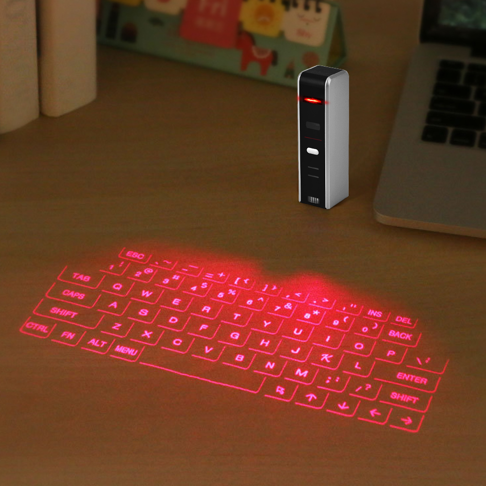 Projection Keyboard,Wireless Bluetooth Laser Virtual Projection Keyboard + Touchpad Mouse for Tablet Smartphone