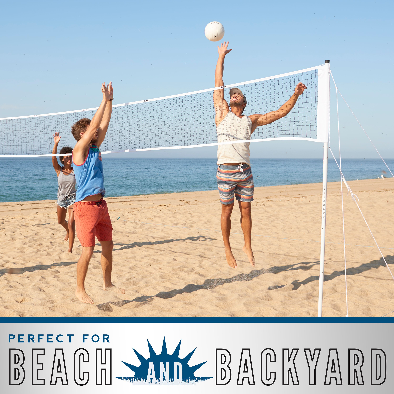 Franklin Sports Volleyball Net Professional Set 30 X 2 Net Steel Poles Rubber Volleyball Walmart Com Walmart Com