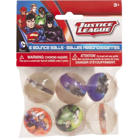 Justice League Bouncy Ball Party Favors  6Ct