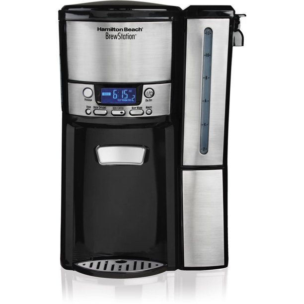 Hamilton Beach BrewStation 12 Cup Programmable Coffee Maker Dispensing Coffee Machine with Removable Reservoir, Model 47950