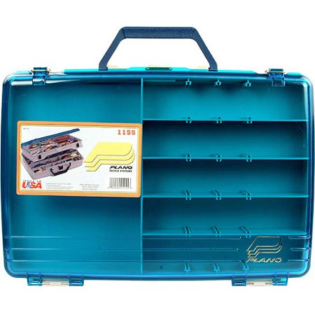 Plano satchel two level tackle box beige blue for Plano fishing box