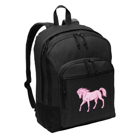 Horse Backpack CLASSIC STYLE Horse Theme Backpacks Travel & School - Horse Themed School Supplies