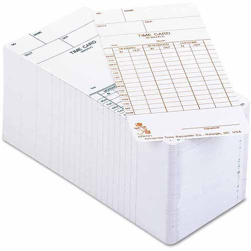 Acroprint Time Cards for Electronic Clock, Weekly or Biweekly, 250-Pack