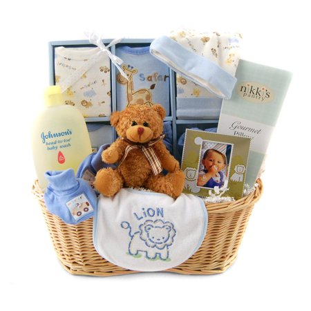 Nikki's by Design New Arrival Baby Gift Basket - Blue