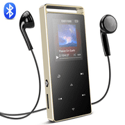 AGPTEK A01T 8GB Bluetooth MP3 Player with FM/ Voice Rocord, Lossless Sound Metal Music Player with Touch Button, Black